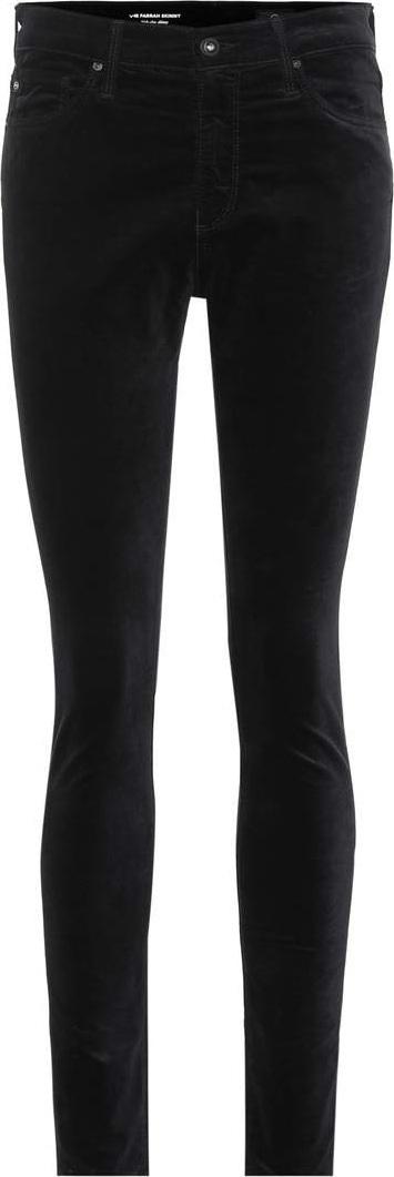 AG Jeans The Farrah velvet skinny jeans
