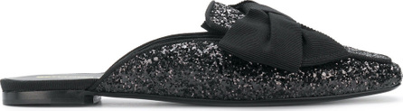 Ermanno Scervino Bow front glittered mules