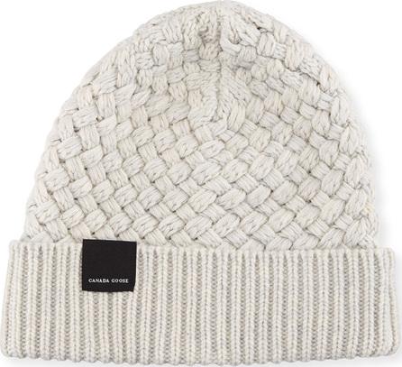 Canada Goose Basket-Stitch Wool Toque Hat