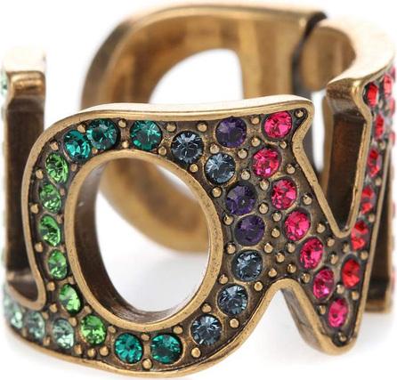 Gucci Love crystal-embellished ring