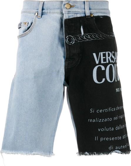 Versace Jeans Couture Contrast logo-print denim shorts
