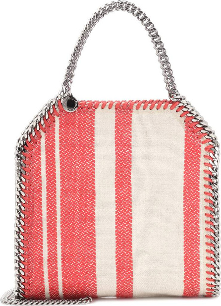 Stella McCartney Falabella striped canvas tote