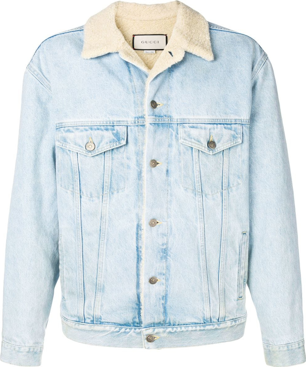 8ad9c25b Gucci Paramount print denim jacket - Mkt