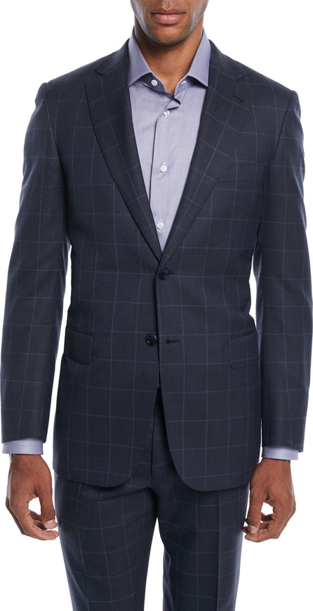 Brioni Men's Windowpane Two-Piece Wool-Silk Suit