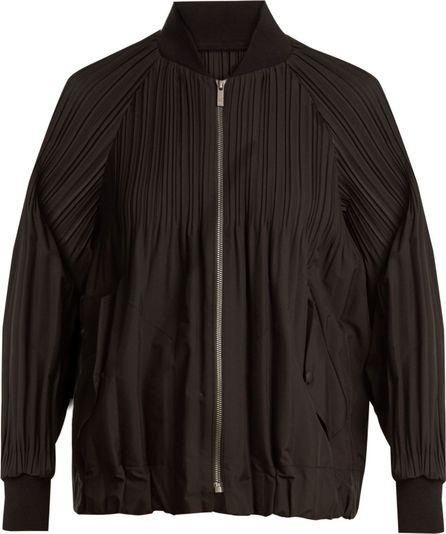 Pleats Please By Issey Miyake Jaunty pleated bomber jacket