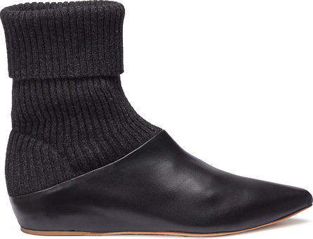 Gabriela Hearst 'Rocia' sock knit panel leather ankle boots