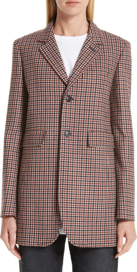 Balenciaga Check Stretch Wool Blazer