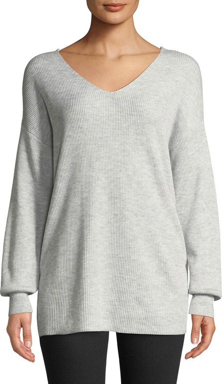 Bardot Knot-Back Oversized Pullover Sweater