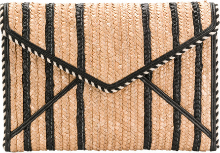 Rebecca Minkoff Striped envelope clutch bag