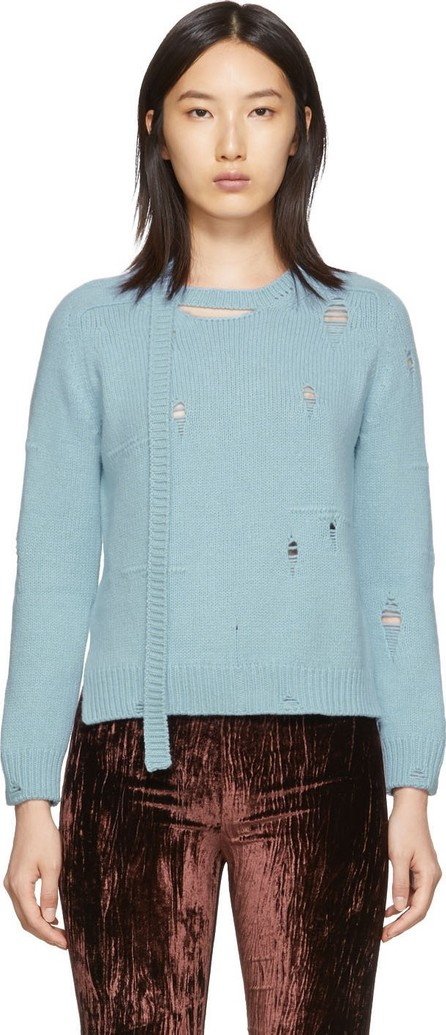 MARC JACOBS Blue 'The Worn And Torn' Crewneck Sweater