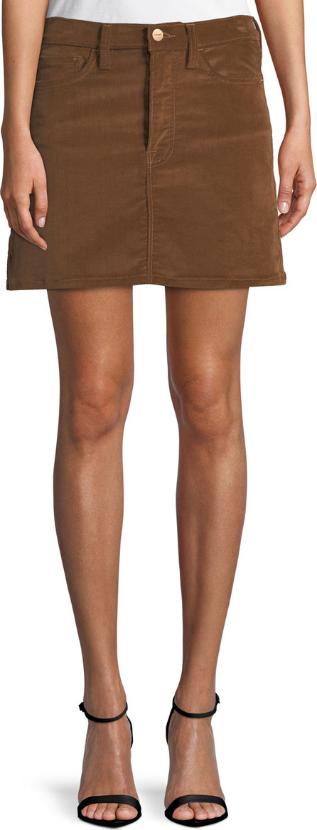 FRAME DENIM Le Mini Stretch Corduroy Skirt