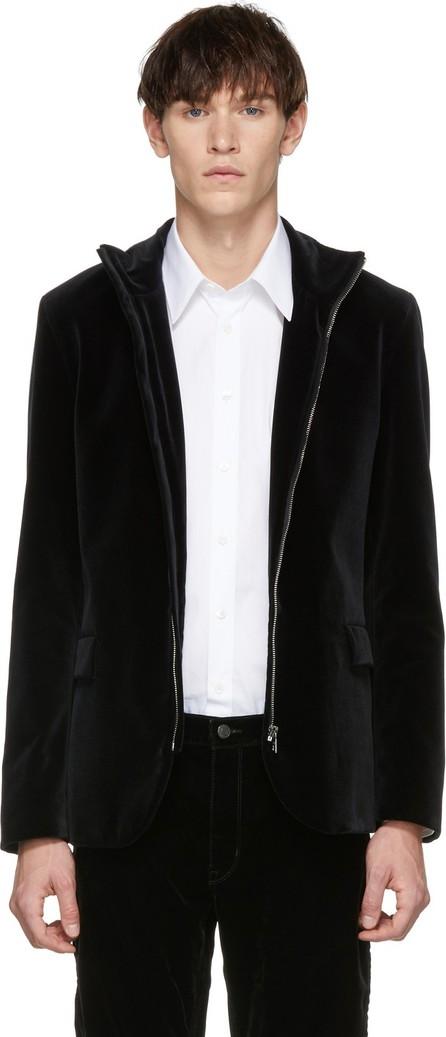 HUGO Black Velvet Apino Zip Blazer