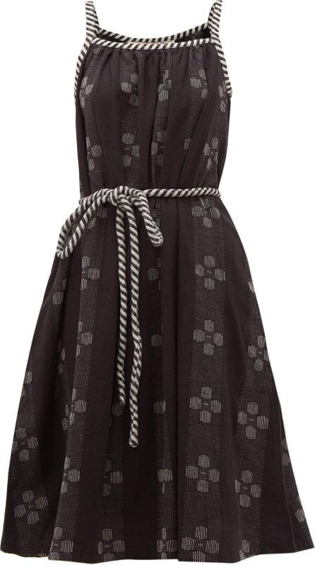 ace&jig Noelle belted-waist cotton dress