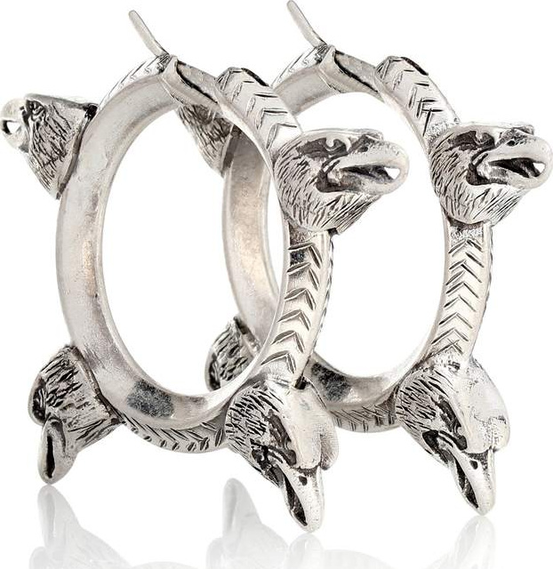 Gucci - Anger Forest sterling silver hoop earrings