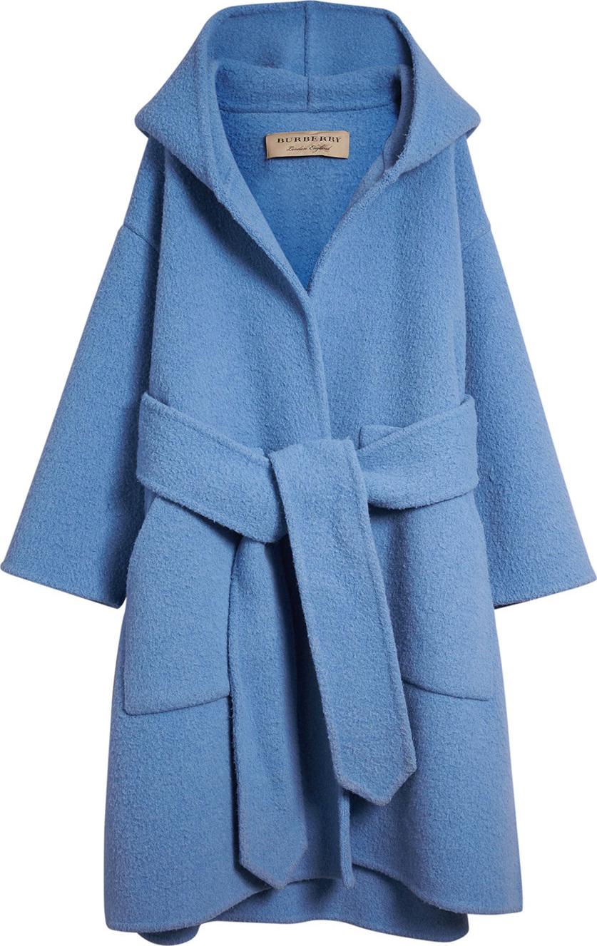 Burberry London England Alpaca Wool Blend Dressing Gown Coat in Blue ...