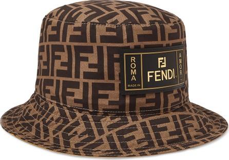 Fendi Reversible Logo-Print Cotton Bucket Hat
