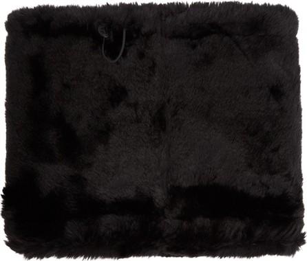 Diet Butcher Slim Skin Black Faux-Fur Snood Scarf