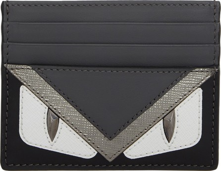 Fendi Black & Silver Bag Bugs Card Holder