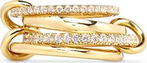 Spinelli Kilcollin 'Polaris' diamond 18k gold four link ring