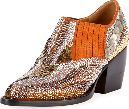 Chloe Rylee 90MM Bootie with Strass Detail