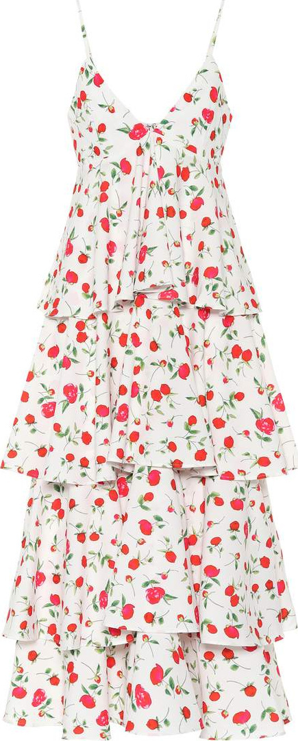 DODO BAR OR Sleeveless floral-printed dress