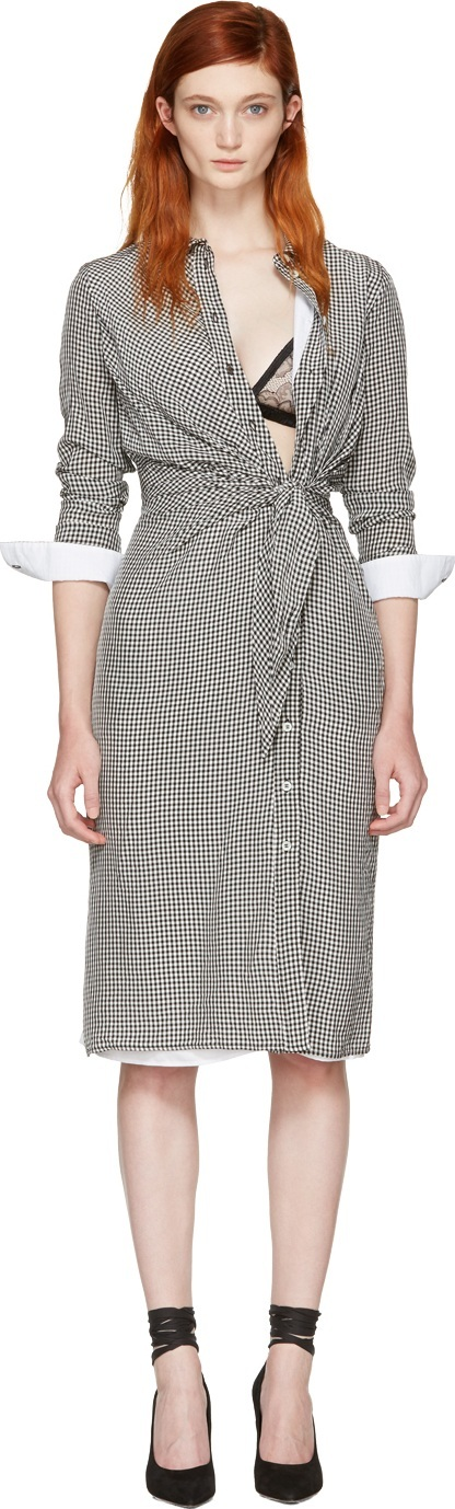 Altuzarra Black & White Gingham Yuma Dress