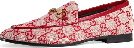 Gucci New Jordaan GG Canvas Loafer Flat