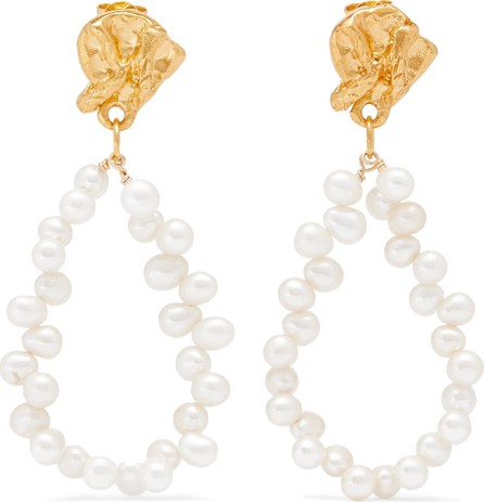 Alighieri Apollo's Story gold-plated pearl earrings