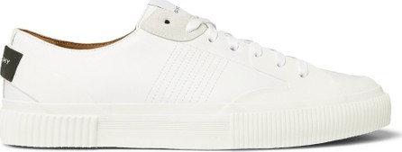 Givenchy Logo-Print Rubber and Suede-Trimmed Leather Sneakers