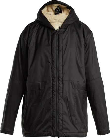 Aries Reversible water-resistant and faux-fur jacket