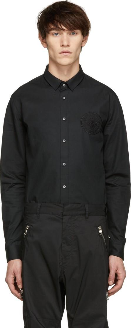 Balmain Black Embroidered Medallion Shirt