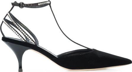 Nina Ricci rhinestone embellished T-strap pumps