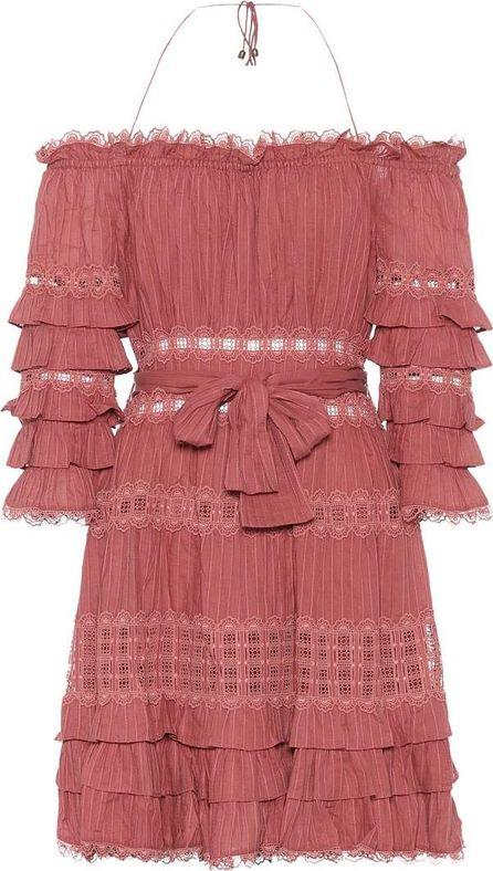 Zimmermann Off-the-shoulder cotton minidress