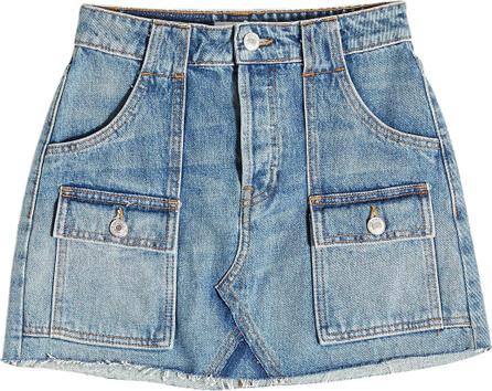 RE/DONE Cargo Denim Mini Skirt