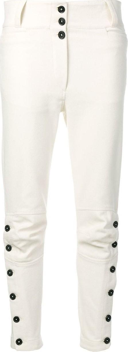 Ann Demeulemeester Side button detail trousers