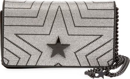 Stella McCartney Stella Star Small Metallic Alter Napa Shoulder Bag