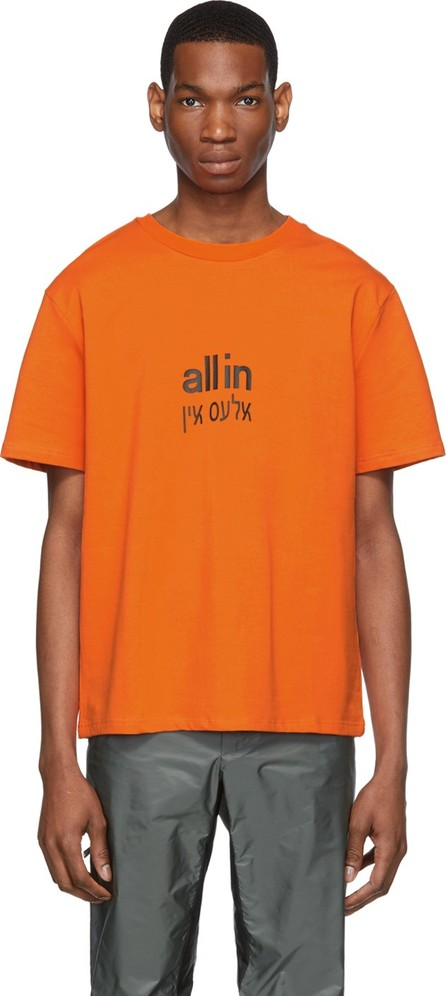 all in SSENSE Exclusive Orange Yiddish T-Shirt
