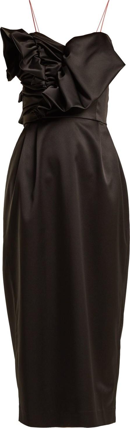 Anna October Ruffled satin midi dress