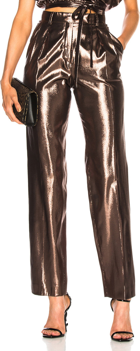 Alberta Ferretti Metallic Silk Trousers