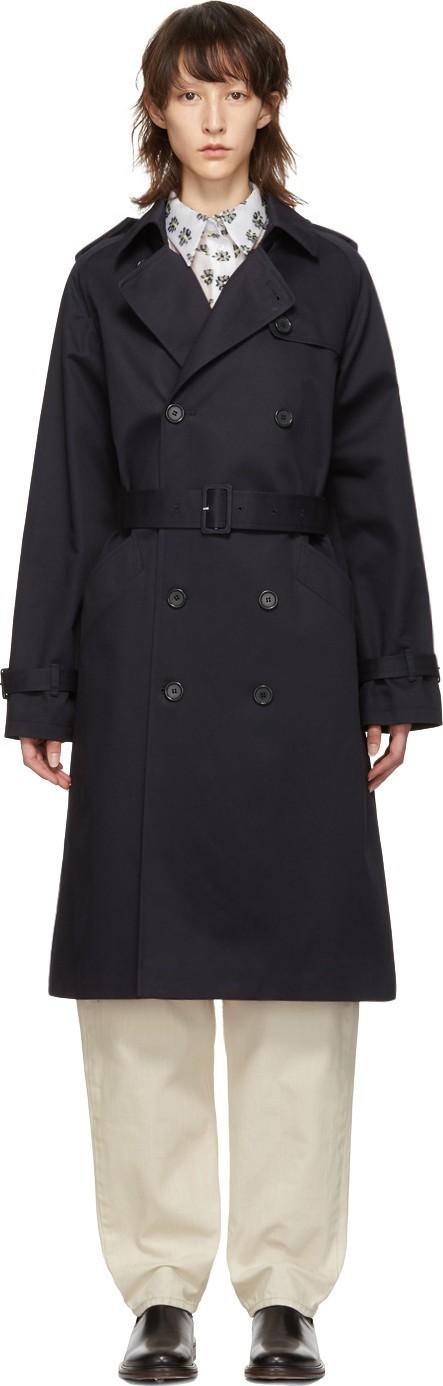 A.P.C. Navy Greta Trench Coat