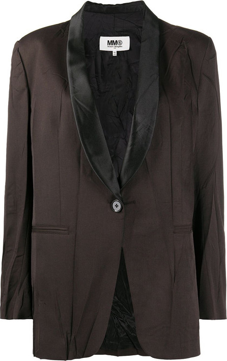MM6 Maison Margiela Wrinkled-effect single-breasted blazer