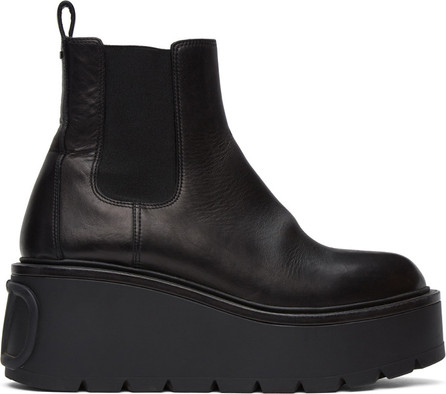 Valentino Black Valentino Garavani VLogo Platform Boots