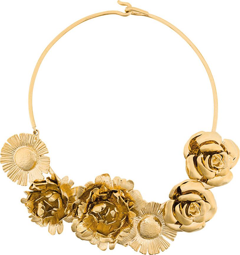 Aurelie Bidermann - Selena statement flower necklace