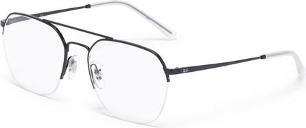 Ray Ban Double bridge metal frame optical glasses