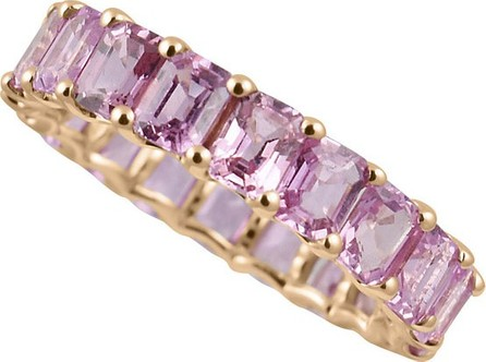 Stevie Wren 14k Rose Gold Pink/Purple Sapphire Band Ring, Size 7
