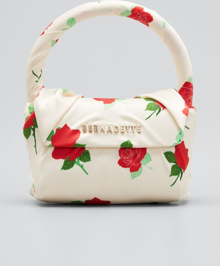 BERNADETTE Belinda Floral-Print Satin Top Handle Bag