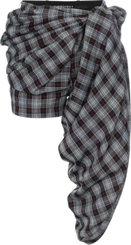 Y / Project Check print draped shorts