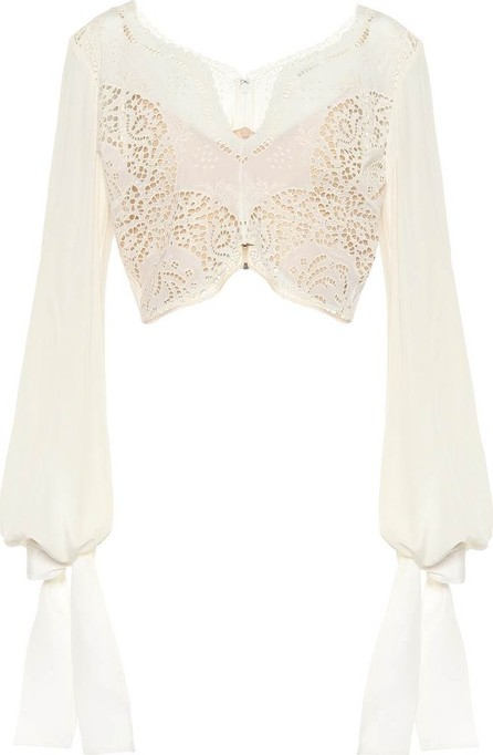 Stella McCartney Embroidered silk top