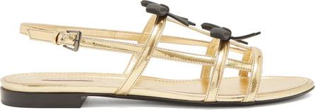 Fabrizio Viti Take A Bow leather slingback sandals