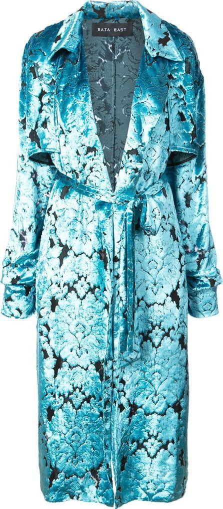 Baja East velvet trench coat